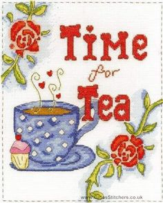 Time For Tea - Sampler - DMC Cross Stitch Kit