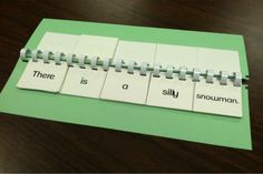 Sentence building flip book FREEBIE!