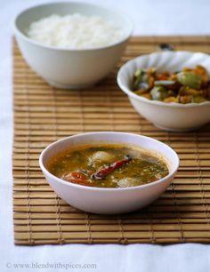 Thotakura Sambar #Recipe - South Indian #Sambar with Amaranth Leaves..  | blendwithspices.com ... #indianfood #cooking #vegan #foodblog #sidedish