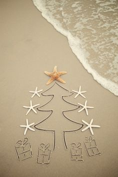 beach christmas- cute card idea