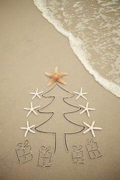 beach christmas- cute card idea