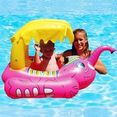 Baby Pool Float Elephant with Shade Toddler Pool Floats, Baby Elephant Toy, Happy Elephant, Baby Pool Toys, Baby Toys, Baby Baby, Baby Float, Baby Elefant, Toys