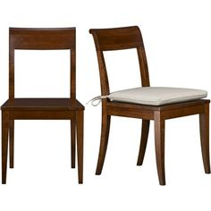 Cabria Honey Brown Side Chair and Cushion in Dining Chairs | Crate and Barrel $179