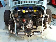 Vw Turbo, Vw Super Beetle, Hot Vw, Vw Engine, Porsche 550, Subaru, Vw Cars, Vw Beetles, Retro Cars