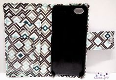 iPhone 5 Geometic Print Wallet Case