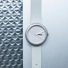 http://objest.com Objest Hach Watch - Silver case, grey leather strap. Swiss Made, 40 mm case, 50m water resistance 2 year warranty £279