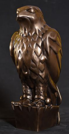 """Maltese Falcon Statue -Replica. In film, the """"MacGuffin"""" is an object of desire that gets the ball rolling."""