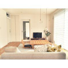 chaさんの、リビング,照明,IKEA,植物,座椅子,掛け時計,シンプル,座卓,子供椅子,シンプル好き,ラグ購入,のお部屋写真