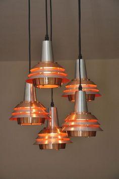 vintage modernist Danish hanging lamp on ebay