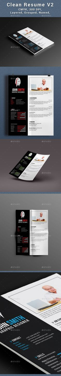 Clean Resume V2 Cleaning, Simple resume template and Simple resume - resumedoc