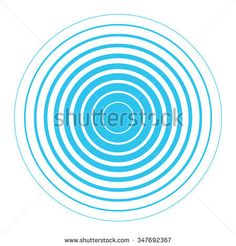 Blue and white rings. Sound wave wallpaper. Radio station signal. Circle spin vector background. Line texture. Target