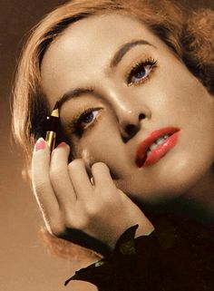 Joan started to experiment with make up as soon as she got to Hollywood, and she became very good at it!
