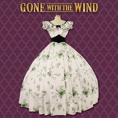 """Gone With the Wind """"Barbecue Gown"""" #Barbecue-Gown #Gone-With-the-Wind-dresses #Gone-With-the-Wind-Gown"""