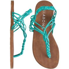 BILLABONG Woven in time sandal by None, via Polyvore