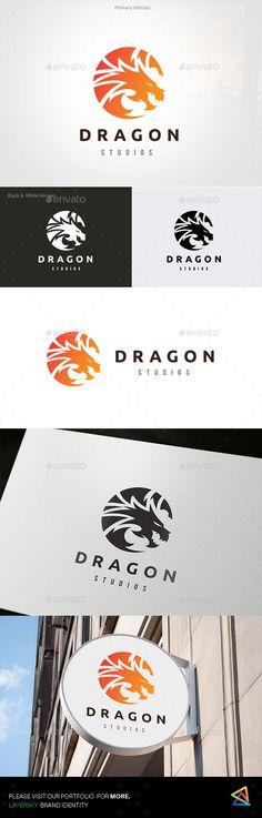 Dragon Logo — Vector EPS #ferocious #strong • Download ➝ https://graphicriver.net/item/dragon-logo/19203118?ref=pxcr