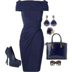 Navy blue dress by Dittekarina