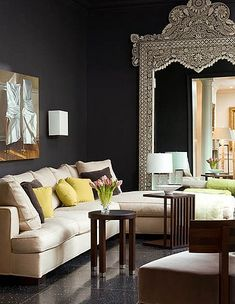"""I LOVE LOVE LOVE black walls.  I definitely think it can be a """"neutral"""" color.  I can't wait to do this in my next house!"""