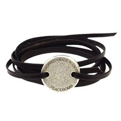 Coin Wrap Bracelet Chocolate. I'm gonna make this with one of my old coins and a leather strap :D
