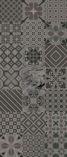 1900: Tassel Grafito - 20x20cm.   Pavimento - Gres   VIVES Azulejos y Gres S.A.
