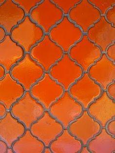 70's tile orange