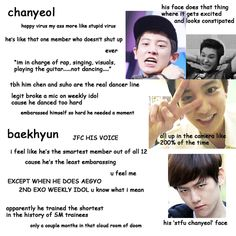 "A beginners guide to EXO: Chanyeol & Baekhyun ""More Like Stupid Virus"" Haha Aw Everyone's So Mean To Chanyeol x')"