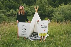 """Free printable """"Happy Campers"""" posters #freeprintable #freeprintables"""