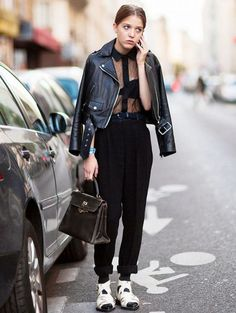 how to wear sheer blouse 1