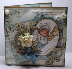 Tilda with love cake, With love collection 2013, Magnolia stamps