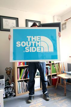 NORTHSIDE / SOUTHSIDE.   It doesn't matter if your from England, Korea, Ireland, Dublin, Cork or Compton. We all know something about a north/south split.   These are a limited edition screen print edition of 50 pieces each. Signed and numbered in blue, green, gold and silver.