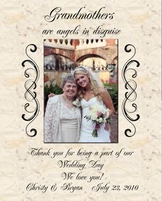 Items similar to Wedding Gift Thank you Grandmothers on Etsy Art Deco Wedding, Wedding Pins, Our Wedding Day, Wedding Details, Wedding Ideas, Happy Grandparents Day, Dearly Beloved, Grandmothers, Thank You Notes