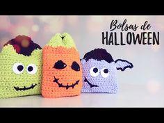 Bolsas/Mochilas de HALLOWEEN a crochet   Ahuyama Crochet - YouTube