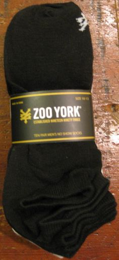293d47ebff0 Zoo York 10 Pairs Pack Low Cut No Show Ankle Stretch Sport Socks Black Men 8