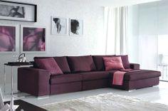 Divani con penisola: Composizione Atlante da Doimo Salotti | Design: Walter Krais | Materiali: Tessuto | #design #home #purple #viola #webmobili #interiordesign #italiandesign |