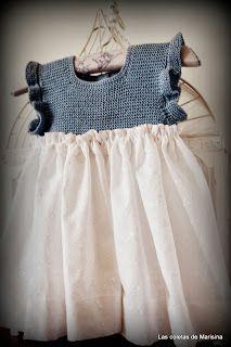 Las coletas de Marisina: Vestido de batista bordada y canesú de hilo