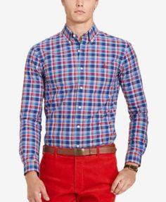 POLO RALPH LAUREN Polo Ralph Lauren Men's Relaxed-Fit Checked Poplin Shirt. #poloralphlauren #cloth #down shirts