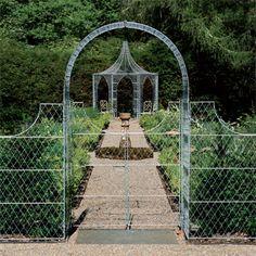 Metal Garden Arch | Arches 10% off* standard, plain zinc galvanised 4' wirework arches ...