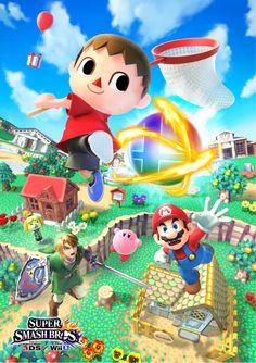 Super Smash Bros. (Wii U & 3DS) - Villager Official promo art by Ryuji Higurashi (Capcom)