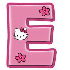 Oh My Alfabetos Alfabeto De Hello Kitty Con Letras Grandes