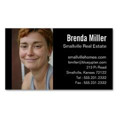 Custom Photo Real Estate Business Color Business Card Templates