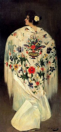 Ramon Casas y Carbó - Woman with Shawl | Flickr - Photo Sharing!