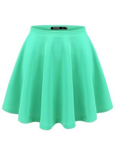 Click here:    Thanth Womens Versatile Stretchy Pleated Flare Short Skater Skirt BLACK Medium