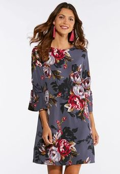 f7a9d1fe30 Cato Fashions Plus Size Bell Sleeve Floral Swing Dress  CatoFashions Fashion  2018