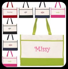 Set of 5 Personalized Bridesmaid Gift Wedding Totes in by elriley, $75.00