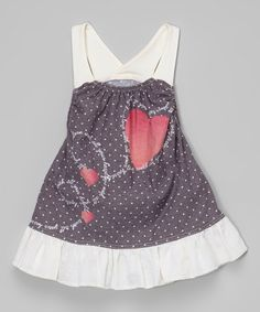 Another great find on #zulily! Charcoal Dot Racerback Dress - Infant #zulilyfinds