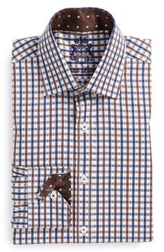 English Laundry Trim Fit Check Dress Shirt available at #Nordstrom
