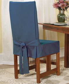 Sure Fit& Short Dining Chair Slipcover Kohls is part of Dining room chair slipcovers Slipcovers at Kohl& This Sure Fit dining chair slipcover features a durable duck cloth construction an - Dining Room Chair Slipcovers, Dining Room Chair Covers, Furniture Slipcovers, Furniture Covers, Home Decor Furniture, Dining Room Chairs, Dining Room Furniture, Lounge Chairs, Side Chairs