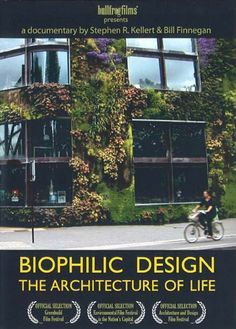 Biophilic Design is an innovative way of designing the places where we live, work, and learn. The film features buildings that connect people and nature-- hospitals where patients heal faster, schools where children's test scores are higher, offices where workers are more productive, and communities where people know more of their neighbors and families thrive. It points the way toward creating healthy and productive habitats for modern humans.