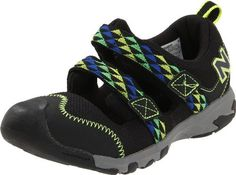 New Balance KD554 Sandal (Toddler/Little Kid//Big Kid) New Balance. $33.07. Rubber sole. Manmade. Fit: True to Size. Outsole: Rubber. Upper: Synthetic/Mesh