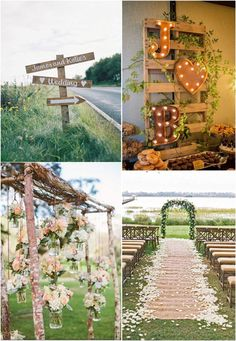 Rustic wedding decoration ideas without spending a lot