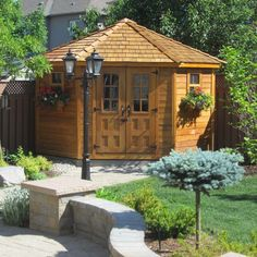 Outdoor Living Today 9 ft. x 9 ft. Penthouse Cedar Garden Shed-PEN99 at The Home Depot $4800